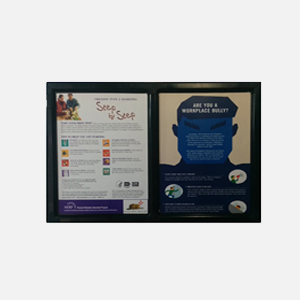 Workplace/Campus Safety Side-by-Side Frame (Pack of 10)