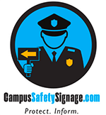 campus safety signage logo